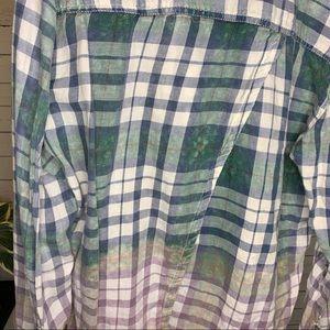 Melrose and Market Tops - Melrose and Market Layered Back Boyfriend Shirt